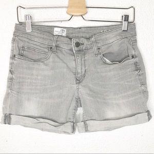 Gap Sexy Boyfriend Shorts 28 Cuffed Gray